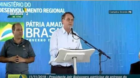 """Bolsonaro chama Cássio Cunha Lima de """"Patrimônio do Brasil"""""""