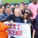 Lula deixa sede da PF