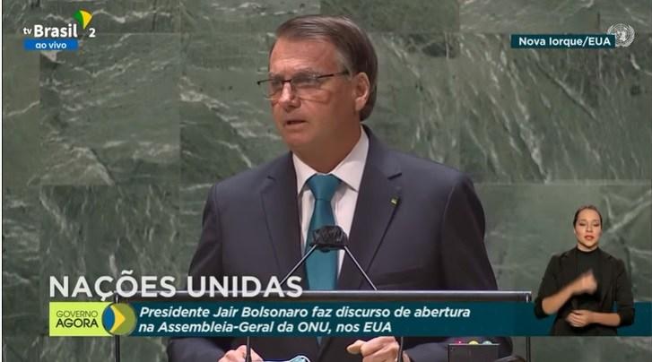 Na ONU, Bolsonaro defende tratamento precoce e se diz contra vacina obrigatória